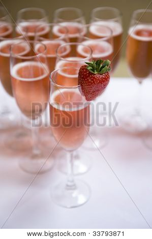 Pink Champagne And Strawberry