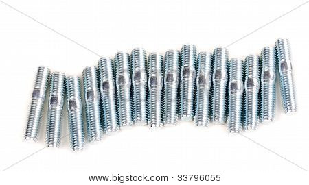 A Set Of Steel Rods (bolts), M6