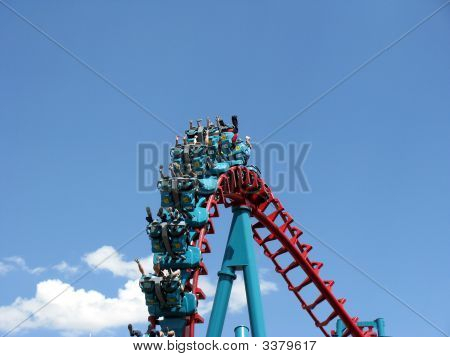 Upside Down Roller Coaster Ride