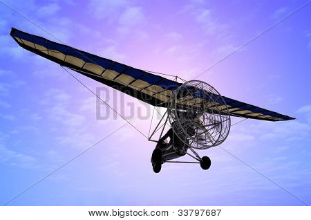 Trike flyingin the sky
