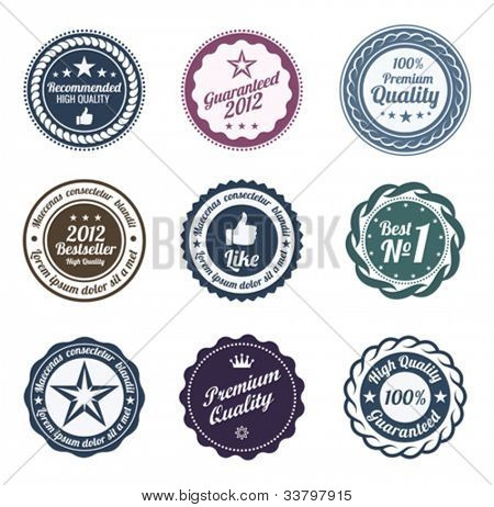 RETRO Design. Premium Vintage Labels. Trendy design. Put your text or logo. High quality.
