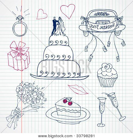 Cute Wedding doodles