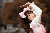 stock photo of lolita  - lolita japanese cosplay portrait - JPG