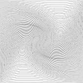 Abstract Pattern With Wavy Lines. Vector Illustration. Monochrome Background poster