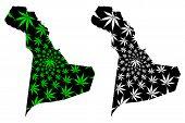 Eastern Province (regions Of Saudi Arabia, Kingdom Of Saudi Arabia, Ksa) Map Is Designed Cannabis Le poster