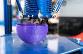 3D printer or additive manufacturing and robotic automation technology. poster