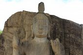 Aukana Buddha Standing Statue Of The Buddha Near Kekirawa In North Central Sri Lanka poster
