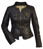 picture of outerwear  - women leather jacket - JPG