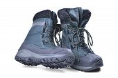 Off-road Boots Insulated For The Cold Season, High Shin, Lacing, Anti-slip Corrugated Reinforced Sol poster