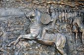 Bas-relief Depicting A Rider With A Spear On A Horse. Turkey, Marmaris poster
