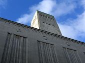 Historic Ventilation Building In Liverpool poster