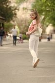 Looking Her Very Best In This Stylish And Comfortable Wear. Adorable Stylish Girl. Small Fashion Mod poster