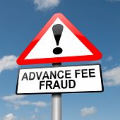 Advance Fee Fraud Concept.