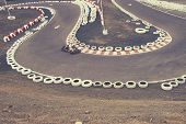 View Of The Long Interesting Winding Go-kart Track On The Coast poster