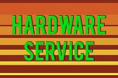 Handwriting Text Hardware Service. Concept Meaning Act Of Supporting And Maintaining Computer Hardwa poster