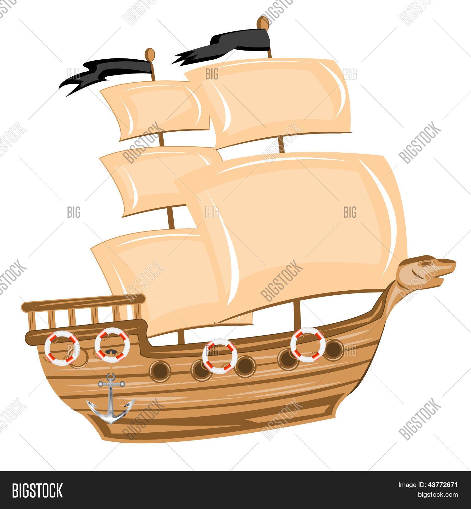 pirate ship vector u0026 photo bigstock