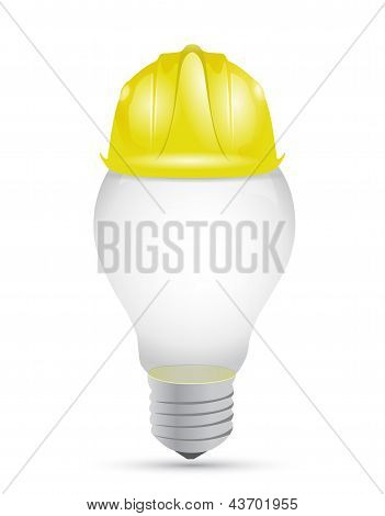 Idea Light Bulb Under Construction Sign