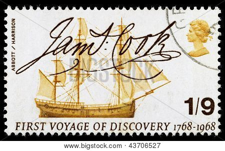 Britain Captain Cook Postage Stamp
