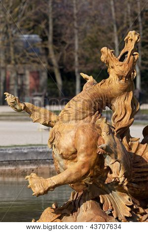 Fountain In Versailles, Yvelines, Ile De France, France