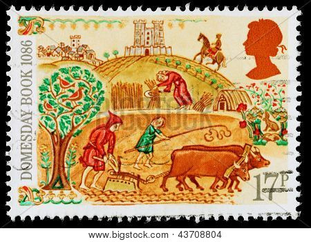 Britain Domesday Book Postage Stamp