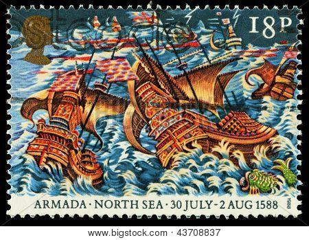 Britain Spanish Armada Postage Stamp