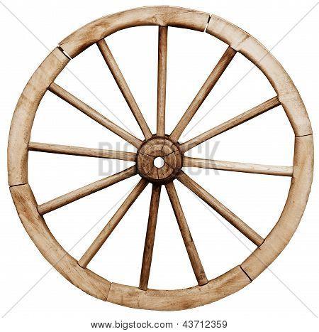 Big Vintage Rustic Wagon Wheel