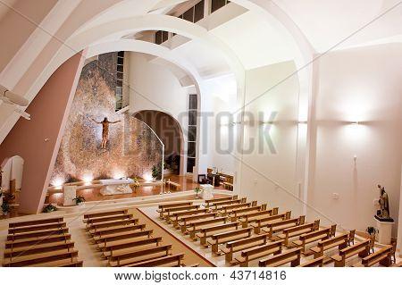 Large Interior Of Modern Church