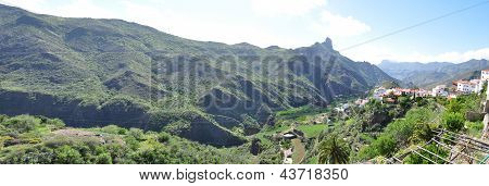 Tejeda village on Gran Canaria, Spain
