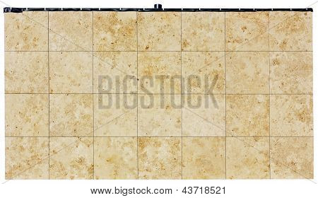 Square Panels From A Stone Shell Rock