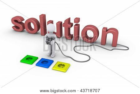 Person auswählen Sockel für Lösung