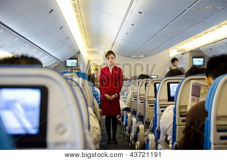 Stewardess At Work