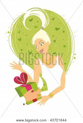 Woman Receiving Gift.eps