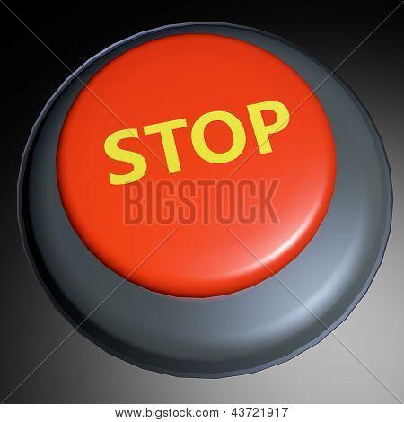 Stop 3D Button