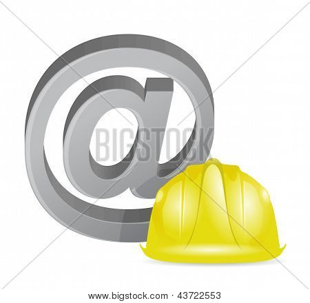 Internet At Sign Under Construction