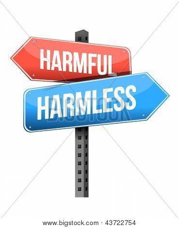 Harmful, Harmless Road Sign