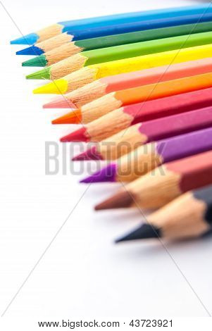 Colour pencil in row