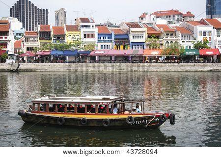 Cidade de Singapore Clarke Quay Riverside