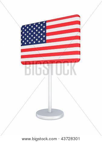Bunner with flag of USA.