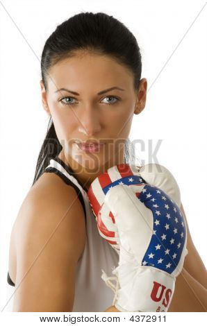 Portrait Boxing Woman