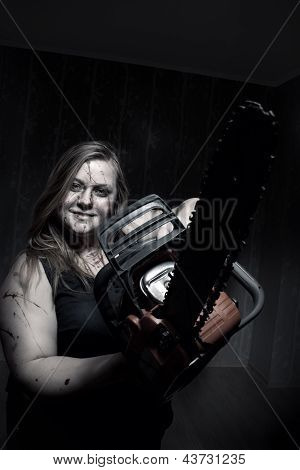 Mad Girl With Chainsaw