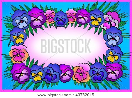 Decorative card with bright flowers