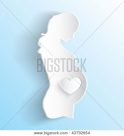 Pregnant Woman Sticker Peeling