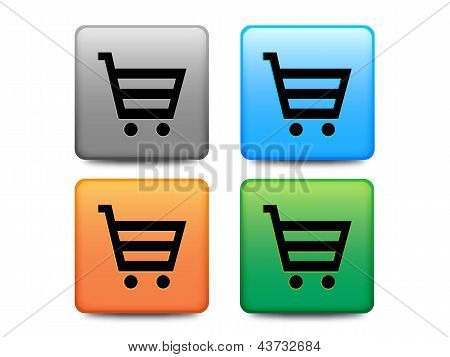 Shopping buttons set