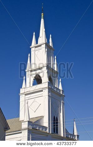 Steeple of a historic church