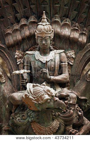 Statue Of Shiva On Garuda, Bali, Indonesia
