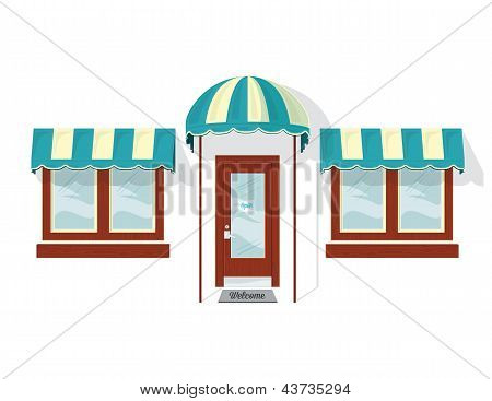 Store Front Door and Windows