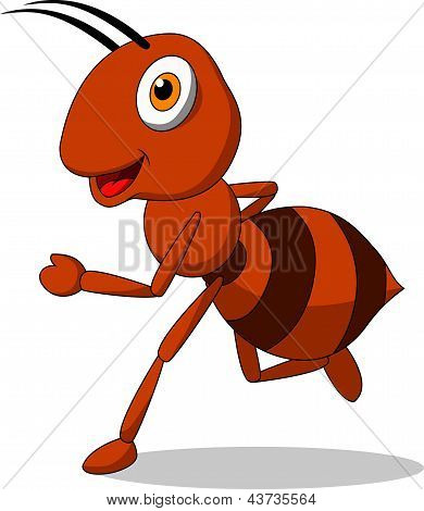 Cute ant running