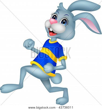 Cute rabbit running