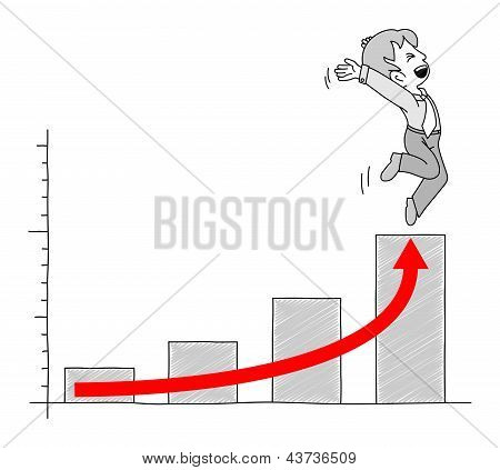 Chart With Businessman 8