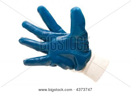 Blue Work Industrial Glove